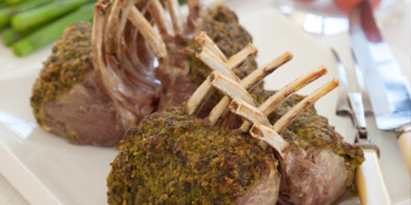 PESTO CRUSTED LAMB RACKS